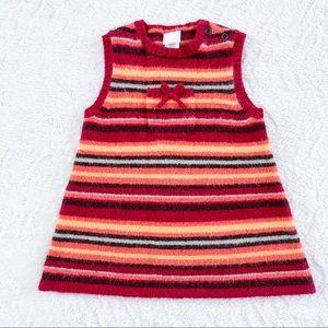 Janie and Jack Striped Wool Dress Size 0-6 Months